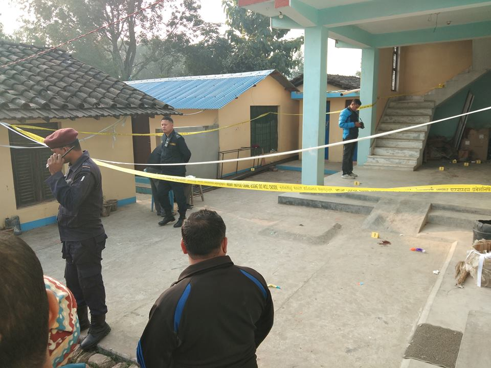 nepal-police-sealed-the-bijay-thapa-murdered-area